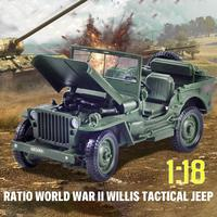 1:18 Jeep Model Willis Car Alloy Model Ornaments Kids Toy For Children Birthday Gifts