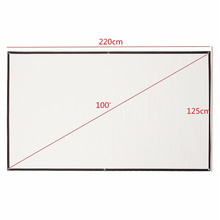 LEORY 100 Inch 16:9 Portable Projection Screen HD White Portable Fold Fabric Projection Screen for Home HD Projector