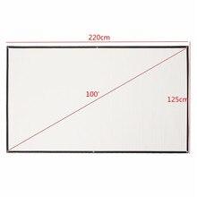 Leory tela portátil de projeção 100 Polegada 16:9, hd, branco, tecido dobrável, tela de projeção para casa, projetor hd