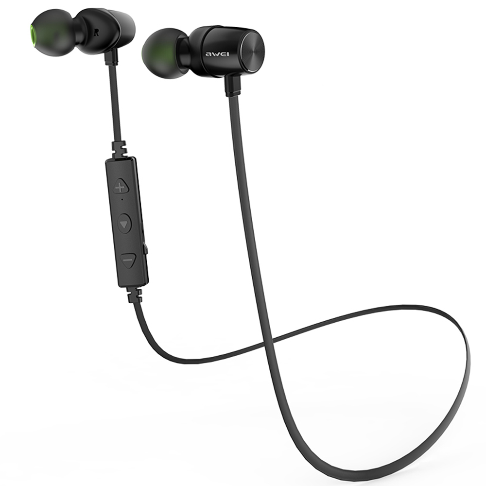 Awei WT30 Magnetic Sports Bluetooth Wireless Earphone In Ear Earbuds Support Noise Cancelling Song Switching Voice Prompt Volume