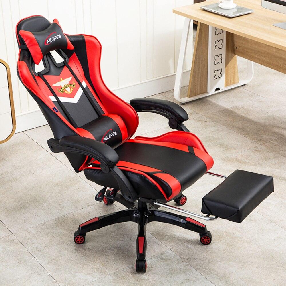 Новый Синтетическая кожа игры Спорт эргономичный кресло на коленях работы дома Исполнительный Роскошная офисная мебель компьютер игровые