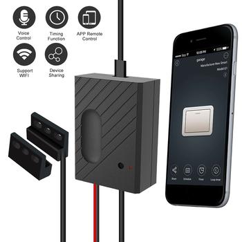 EACHEN inteligentny zegarek Wi-Fi kontroler drzwi garażowych kompatybilny do otwierania drzwi garażowych inteligentny telefon pilot zdalnego sterowania aplikacji funkcja pomiaru czasu tanie i dobre opinie WiFi Smart Switch Nie Bezpieczny Brak