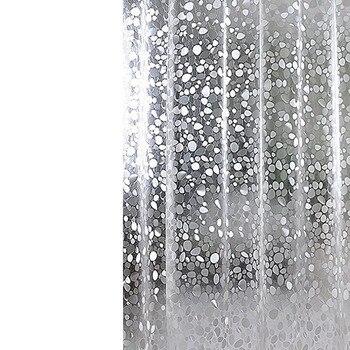 Pvc עמיד למים וילון מקלחת עיבוי שלוש מודפסים שקוף אמבטיה וילון אמבטיה קישוט