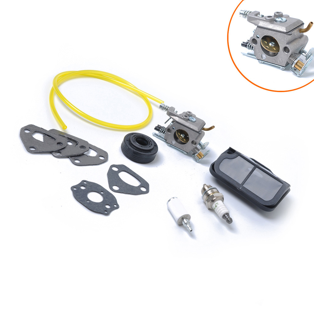 Carburetor Fuel Line Air Filter Spark Plug Gasket for Husqvarna 137 142 Chainsaw Accessories