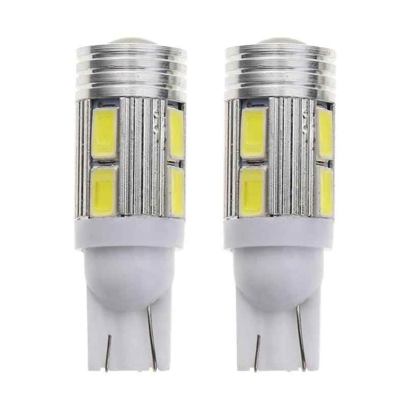 2Pcs T10 W5W 10SMD 5630 Car LED Light Automobiles 6000K White Light-emitting Diode Side/Reverse Lamp Bulb 12V Auto Accessories