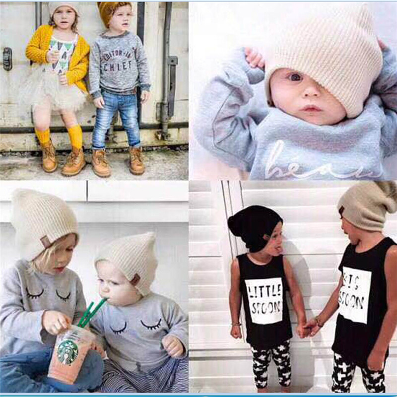 Accessories Winter Pudcoco Hottest Kids Baby Boys Girls Knitted Cap With Scarf Tie Up One Size Warmer Caps Mother & Kids