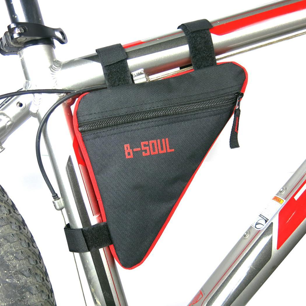 Bicycle Handlebar Bag Triangle Toolkit Bag Letter Print Bicycle Storage Zipper Outdoor Riding Etc. Accessories