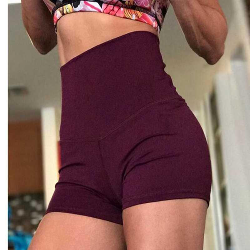 ผู้หญิงเซ็กซี่กีฬาสูงเอวกางเกงขาสั้นกีฬาฟิตเนสออกกำลังกายฟิตเนสออกกำลังกายโยคะ Leggings กางเกงกีฬา Breathable