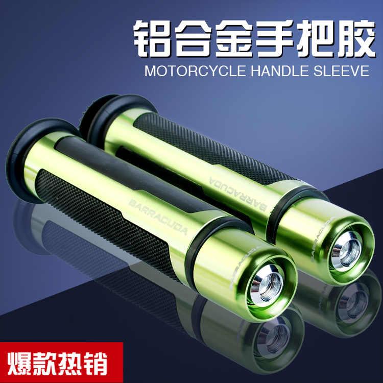 Poignées de Moto universelles 22mm Street & Racing avec extrémité BARRACUDA CNC 7/8 ''poignées de guidon de Moto/Kit de poignées de guidon avec boîte