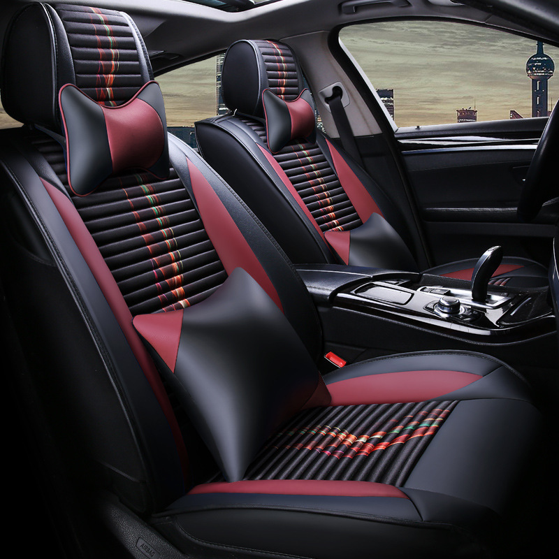 In To Your Taste Auto Accessories Custom Luxury New Car Seat Covers Leather Cushion For Ferrari Gmc Savana Jaguar Smart Lamborghini Fragrant Flavor