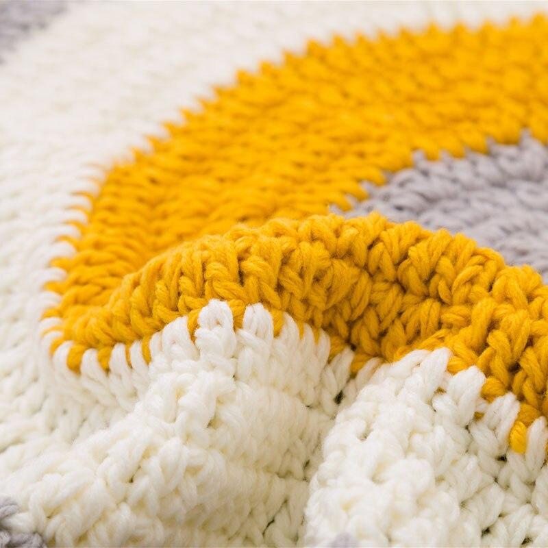 RFWCAK INS bébé infantile jouer tapis enfants ramper tapis plancher tapis literie couverture tissé à la main jeu Pad enfants chambre décor 80 CM - 5