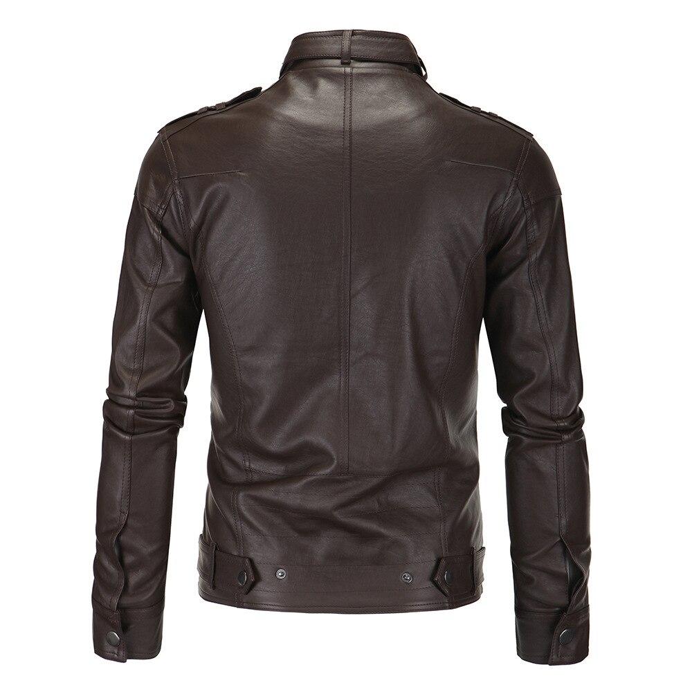 Biker Brown Col black Mens Pied mocha 4xl Angleterre De Manteaux En Style New Casual Pu Cuir Polaire Veste Hommes Bombardier Marque 7UUpS0wq
