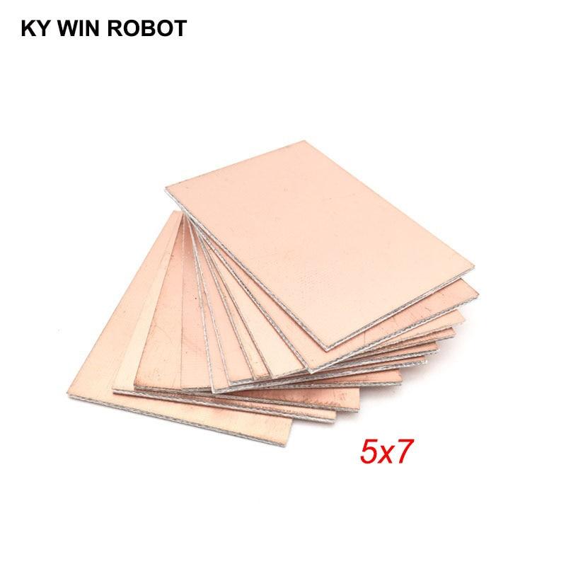 10 шт. FR4 PCB двухсторонняя медная плакированная пластина DIY PCB Kit ламинированная печатная плата 5x7 см