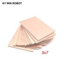 10 pcs FR4 PCB Double Side Copper Clad plate DIY PCB Kit Laminate Circuit Board 5x7cm