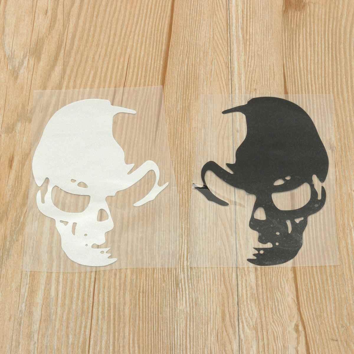 Fashion Skull Car Decal Stickers Auto Emblem Bandage Decoration Window Sticker Black White