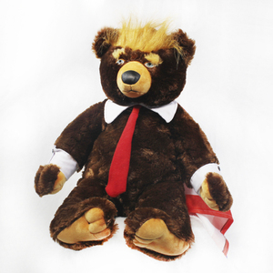 "Image 3 - 60cm דונלד טראמפ דוב בפלאש צעצועי מגניב ארה""ב נשיא דוב עם דגל חמוד בעלי החיים דוב בובות טראמפ בפלאש ממולא צעצוע ילדי מתנות"