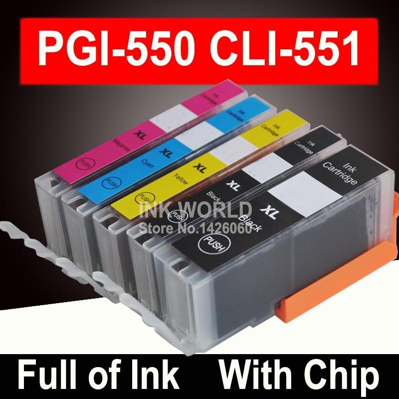 Для Canon MX725 MG5650 MG6650 MG7550 MG 5650 6650 7550 чернильный картридж картриджи принтер PIxma 5 цветов PGI550