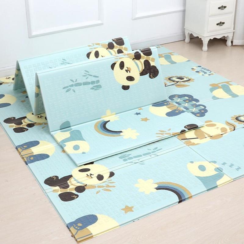 Bébé ramper tapis pliable épais 200*180*1 cm enfants environnement tapis d'escalade salon jeu tapis jouets mousse tapis