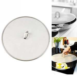 HOUSEEN Stainless Steel Pot Cover Oil Frying Pan Lid