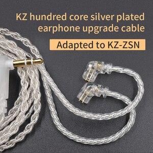Image 3 - CCA KZ ZSN Oortelefoon Silvers Kabel Zsn Pro Plated Upgrade Kabel 2pin vergulde Pin 0.75mm voor KZ ZSN Pro zs10 pro KB06 KB10