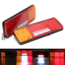 купить 1 Pair 92 LED Tail Light Car Truck Trailer Stop Rear Reverse Turn Indicator Lamp дешево