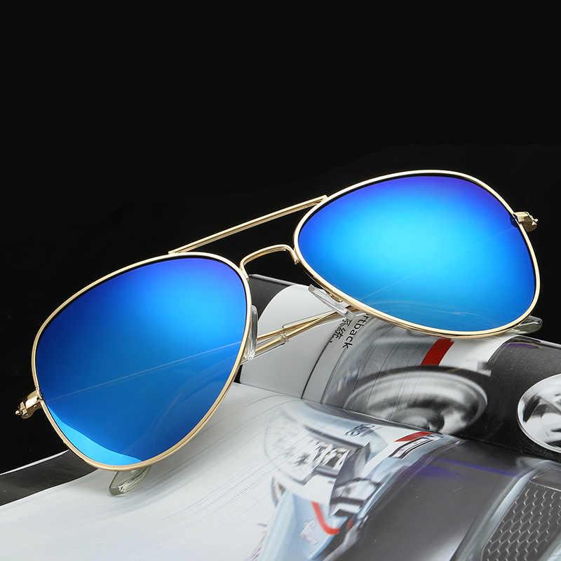 2019 High Quality Aviator Sunglasses Women Brand Designer Pilot Sunglasses Men Coating Sun Glasses oculos feminino UV400