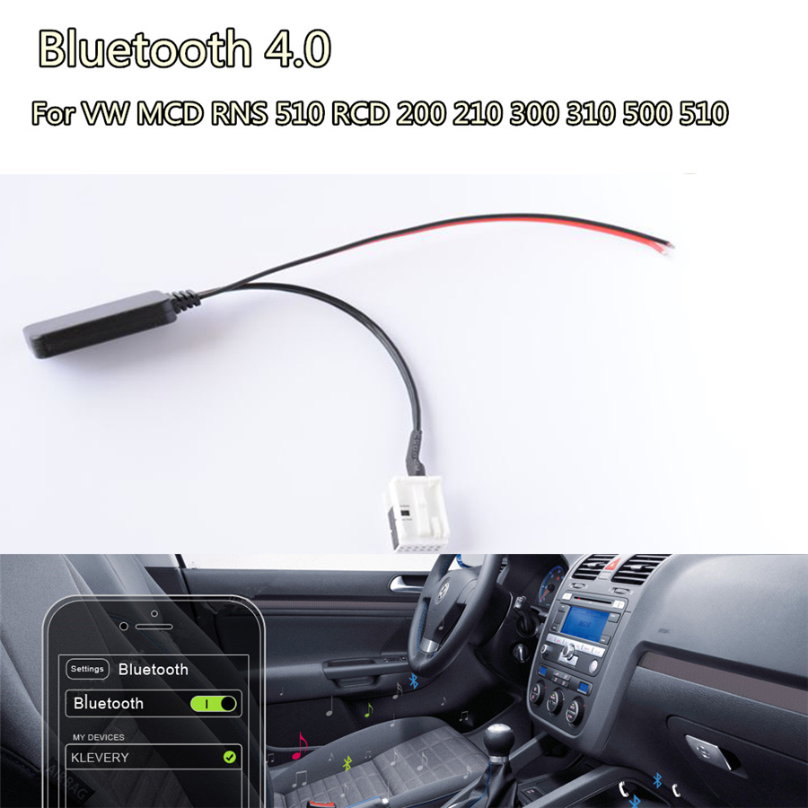 Adaptador Bluetooth 4.0 RNS Aux Cabo Para VW MCD 510 RCD 200 210 310 500 510