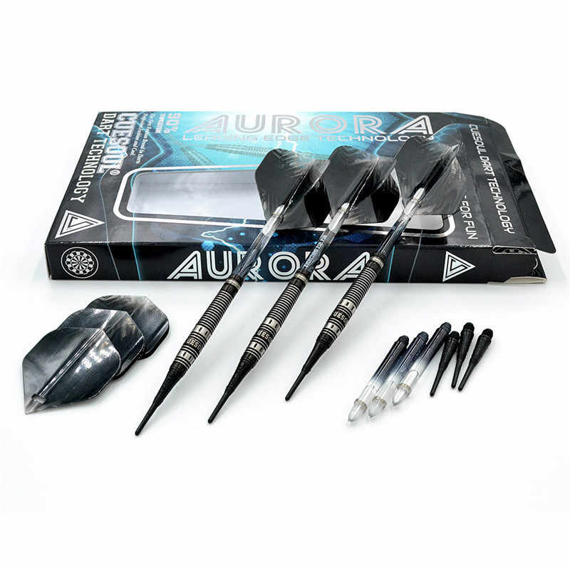 New 3PCS/Set CUESOUL 20g Tungsten Darts Professional Darts Soft Tip Darts With Nylon Darts Shafts CSAR-N2107