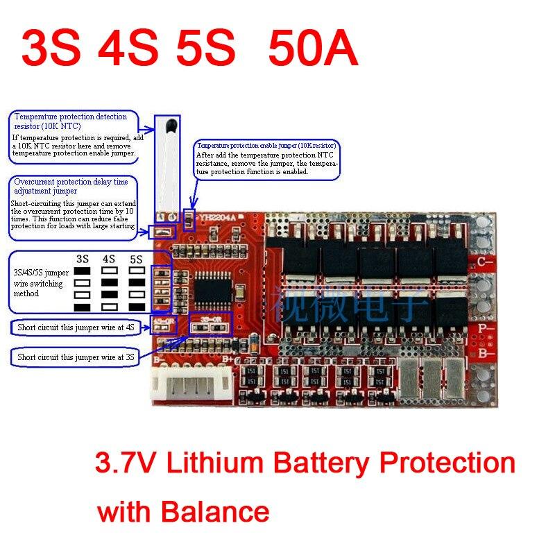 Mini 5 String 5S 18.5V 21V Li-ion Lithium 18650 Battery Cell charging Balance