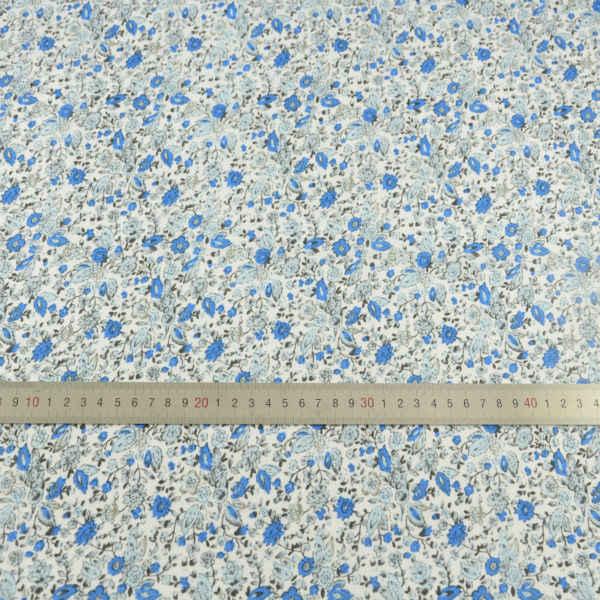 コットン生地ブルー花デザインパッチワークホームテキスタイル人形アートワーク無地脂肪四半期スクラップブッキング Tecido 縫製布センチメートル