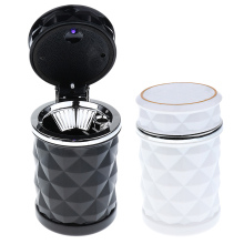 цена на Car Smoke Cigarette Ashtray Holder Cup Led Light Durable Stand Bucket Portable Car Ashtray Smokeless