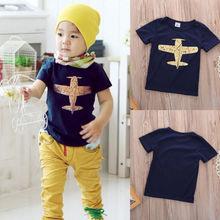 Kids Boy T-shirt Plane Pattern Cotton Shirt plane design Blouse Tee Toddler Clothes Tops