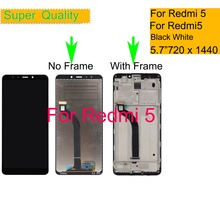 10Pcs/lot For Xiaomi REDMI 5 LCD Display Touch Screen Digitizer Sensor Pantalla monitor Redmi 5 LCD Assembly With Frame Repair