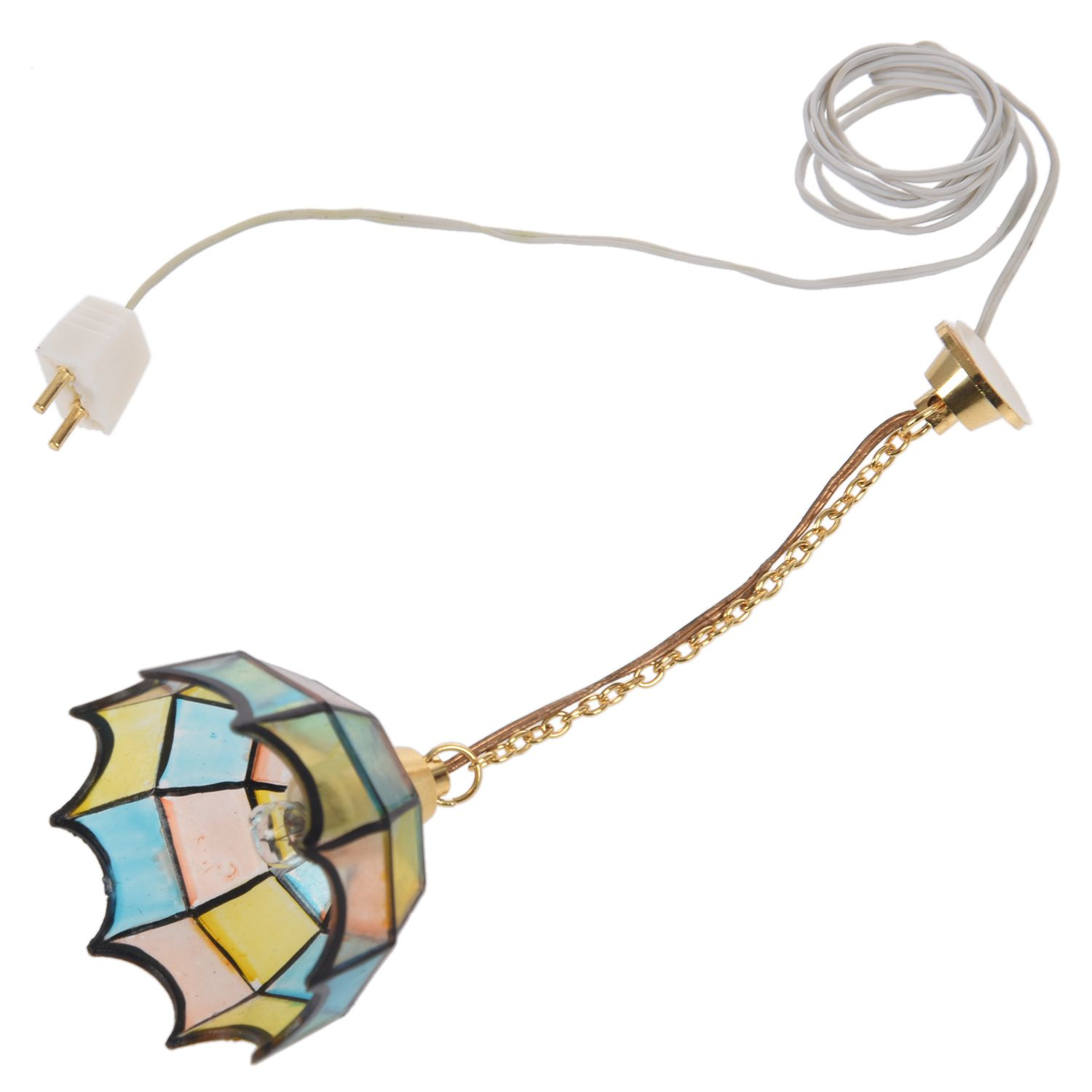 Doll house miniature beautiful color ceiling lamp light Hanging lamps(China)