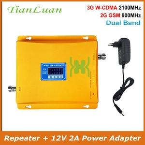 Image 1 - TianLuan GSM 900 mhz + 3g W CDMA 2100 mhz Dual Band Handy Signal Booster 2g 3g handy Signal Repeater mit Netzteil