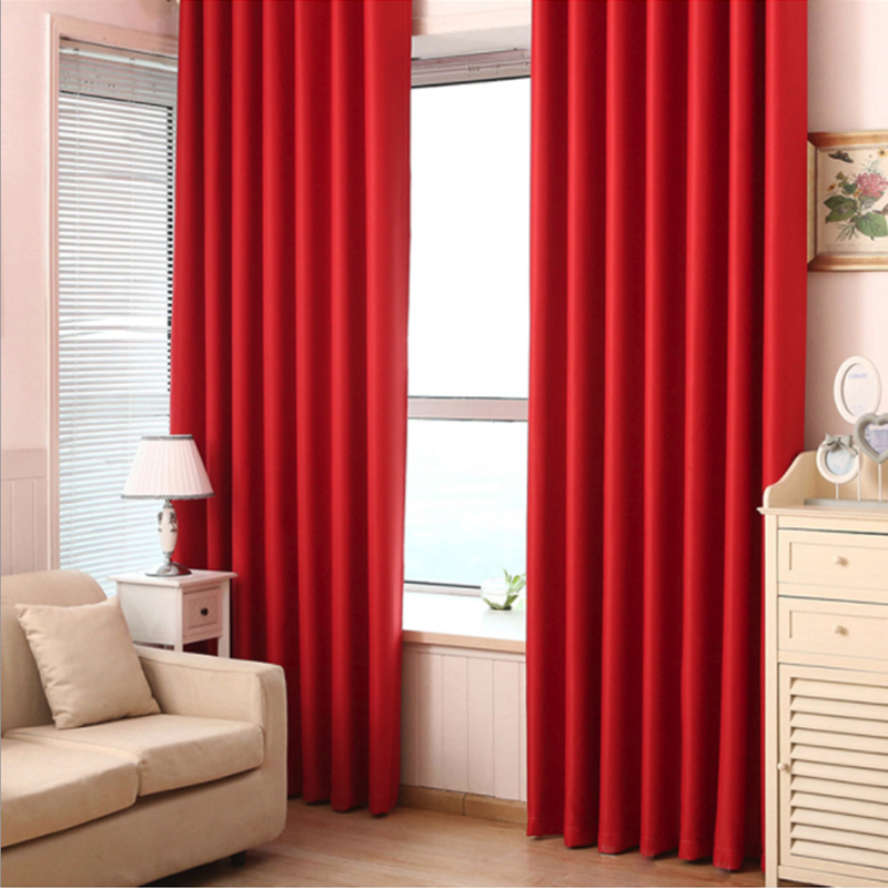 Living Room Window Curtains for Modern Blackout  Treatment Finished Drapes Bedroom blackout 1 Panel