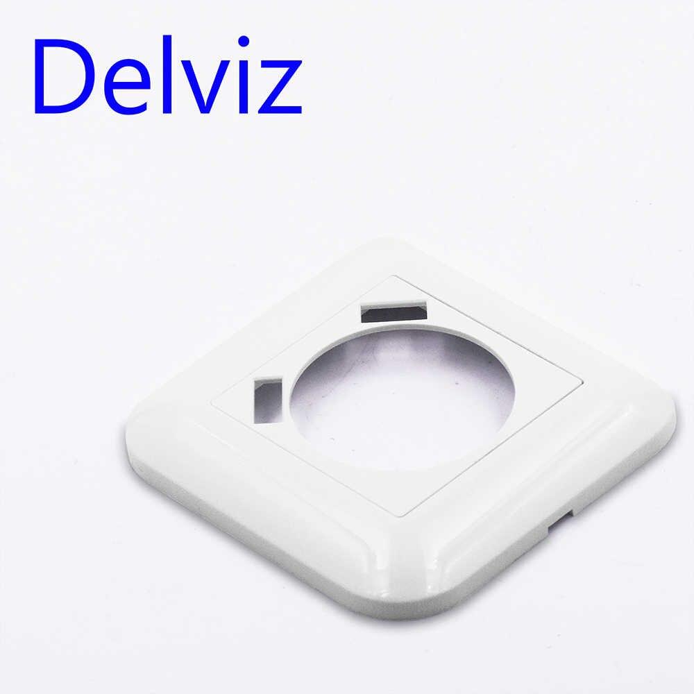 Delviz Standard ue 16A gniazdo ścienne, AC 110 ~ 250V gniazdo zasilania gniazdo, kwadratowe z usb płyty czołowej, 2.1A portu, biały podwójny gniazdo ładowania USB