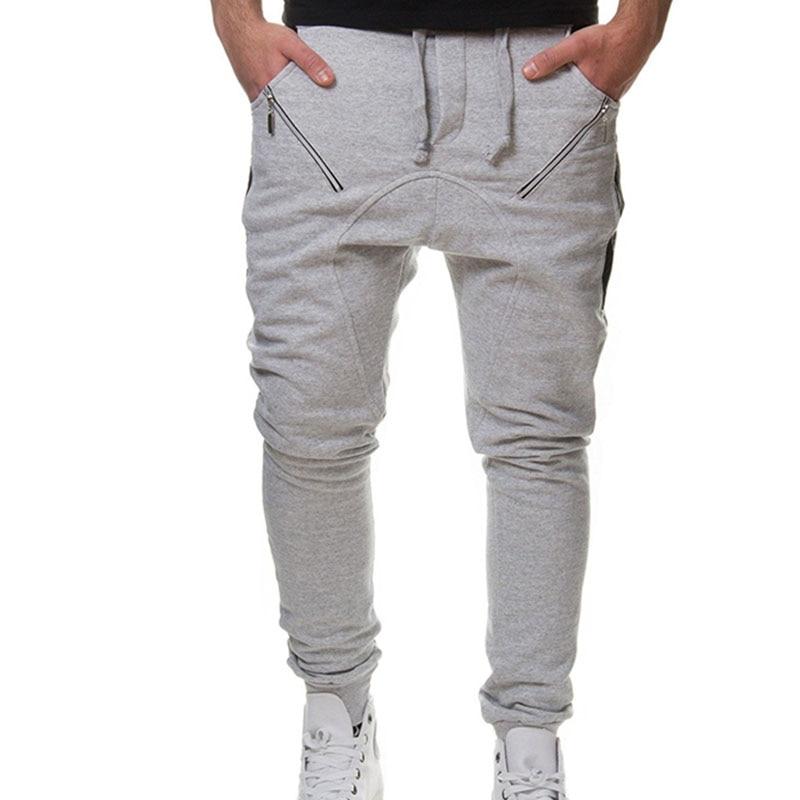 Hemiks Sweatpants Running-Trousers Zipper Men's New Lightweight Decorative