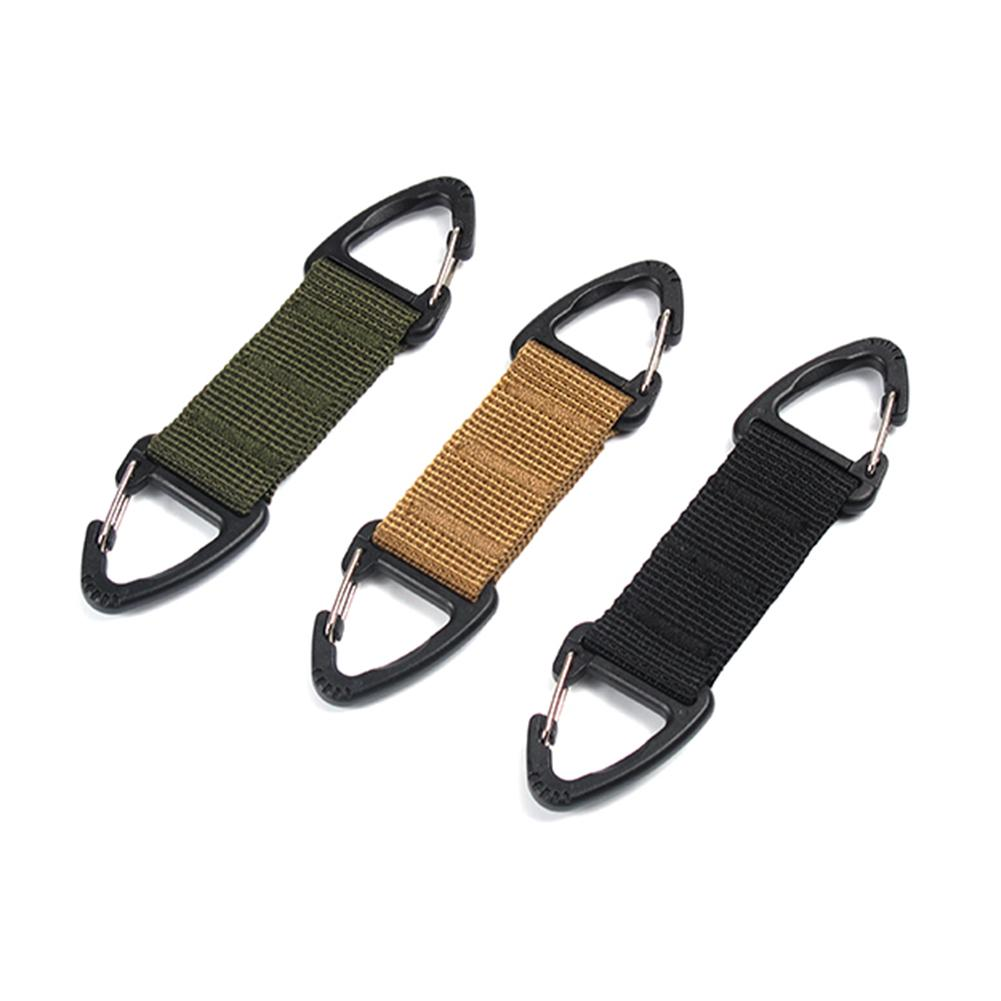 Molle Attach Belt Clip Backpack Straps Outdoor Closure Carabiner Camp Water Bottle Tactical Suspension Support Hook