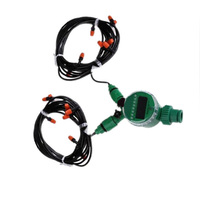 For garden lawn Irrigation system Timer 15m 4/7 Hose Adjustable Sprinkler Heads