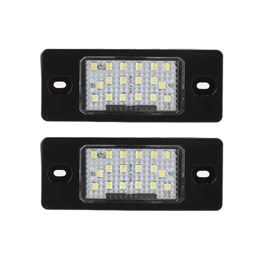 Indicator Lights 2pcs 18 LED Left&Right Car License Plate Light Lamp for VW Golf 5 5D touring Car Accessories