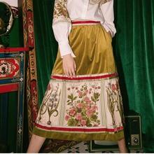 SHENGPALAE весенняя одежда для женщин в стиле ретро бархатная юбка с высокой талией и карманами YH072