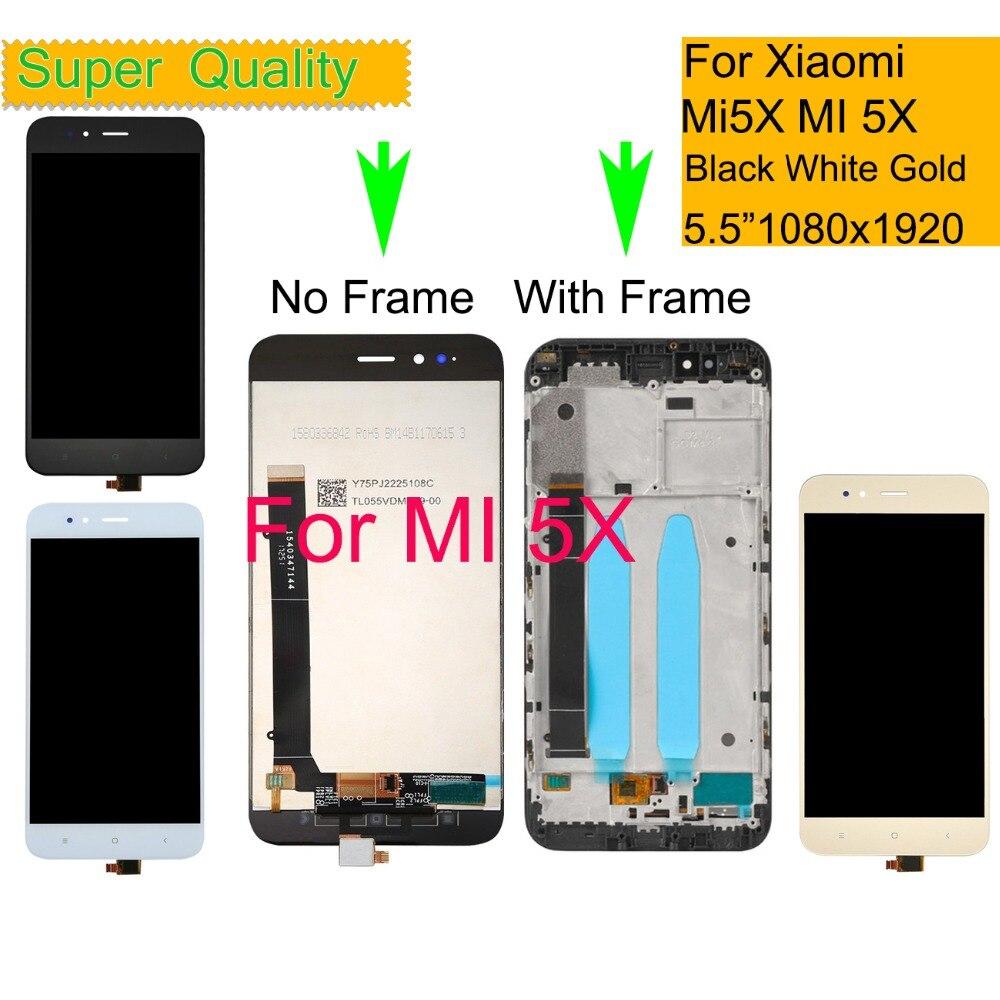 10Pcs lot For Xiaomi Mi 5X Mi5X LCD Display Touch Screen Digitizer Panel Pantalla monitor MI