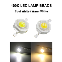 100x SMD COB Chip Cool/Warm White DIY LED Bulb LED Beads Lights Diodes Chip Wholesale 3W Without PCB Round High Power