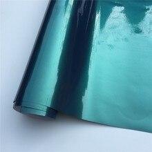 Глянцевая Волшебная Золотая изумрудно-зеленая виниловая пленка для обертывания фольги, пленка для автомобиля без пузырей для автомобиля