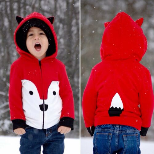 2019 Baby Junge Mädchen Sommer Kleidung Rot Karton Tier Hoodies Sweatshirt Tops Zip Jacke Mäntel Für Kleidung Kinder Kind Kleinkind