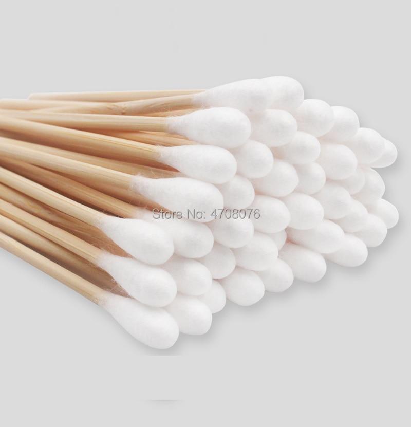 Medical Cotton Swab Disposable Sterile Cotton Stick Home Disinfection Emergency Wooden Applicators Cotton Buds Q-tip 200pcs/pack