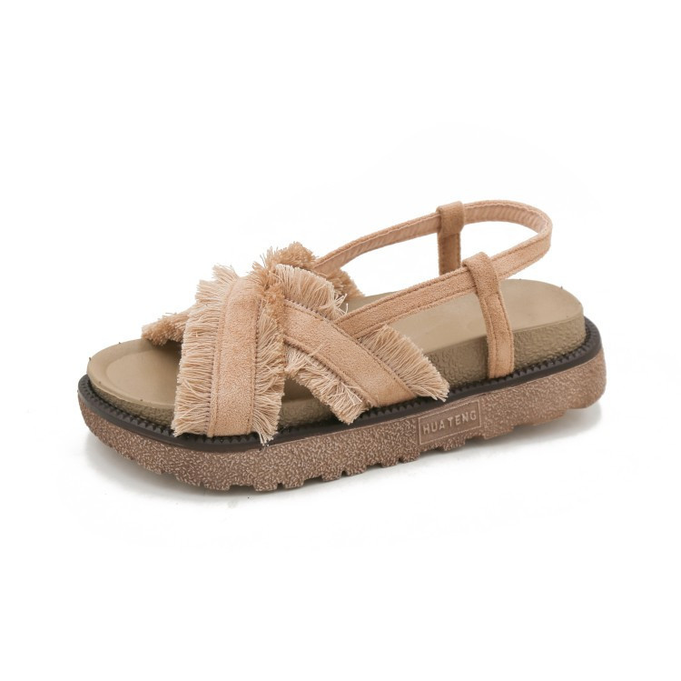 <font><b>Women</b></font> Sandals New Fashion Cloth Summer Girl <font><b>Sexy</b></font> Ladies Non-slip <font><b>Shoes</b></font> <font><b>Woman</b></font> Zapatos De Mujer <font><b>Flat</b></font> Platform <font><b>Sapato</b></font> <font><b>Feminino</b></font> image