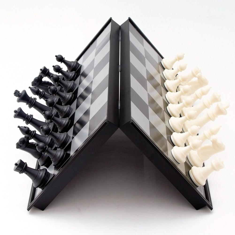 Mini Funny Magnetic Chess Board Set Outdoor Travel Folding Chess Backgammon Parent-Child Educational Family Game Kids Toy Gift