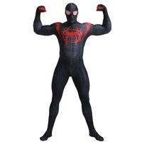 Adult Marvel Cinematic Superhero Parallel Universes Evil Black spider boy Zentai Suit Halloween Cosplay Costume